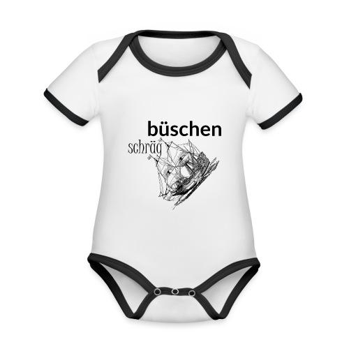 büschen schräg - Design für Fans des Nordens - Baby Bio-Kurzarm-Kontrastbody