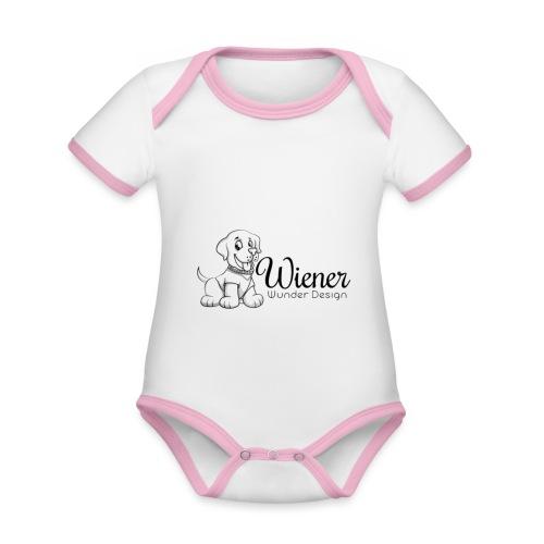 Wiener Wunder Hund - Baby Bio-Kurzarm-Kontrastbody