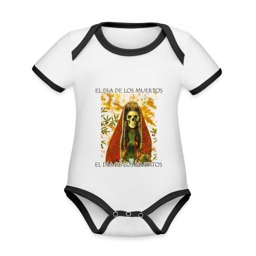 El Dia De Los Muertos Skeleton Design - Organic Baby Contrasting Bodysuit
