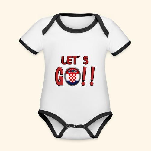 Go Croatia - Body da neonato a manica corta, ecologico e in contrasto cromatico