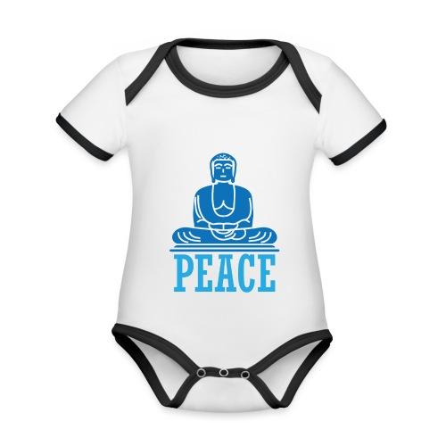Buddha Meditating. - Organic Baby Contrasting Bodysuit
