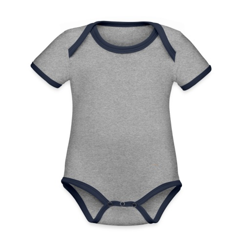 Blanco - Baby contrasterend bio-rompertje met korte mouwen