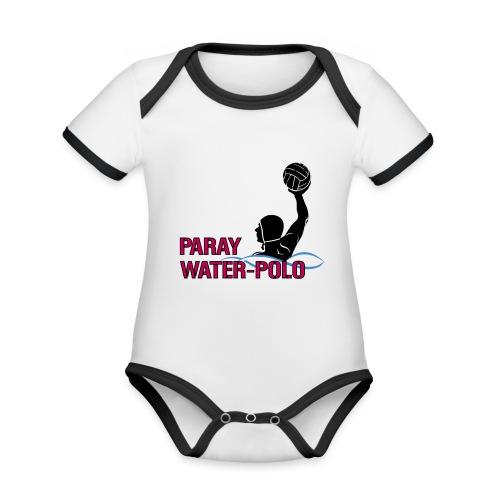 boutique Water Polo PARAY - Body Bébé bio contrasté manches courtes