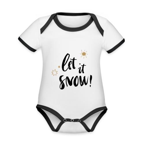 Natale - Body da neonato a manica corta, ecologico e in contrasto cromatico