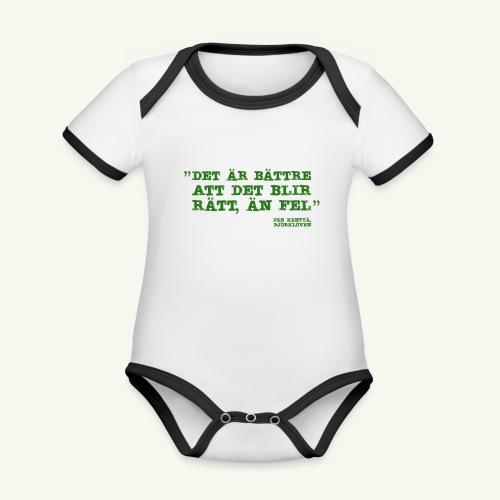 KENTA CITAT - Ekologisk kontrastfärgad kortärmad babybody