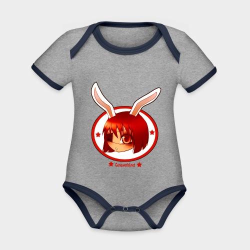 Geneworld - Bunny girl pirate - Body Bébé bio contrasté manches courtes