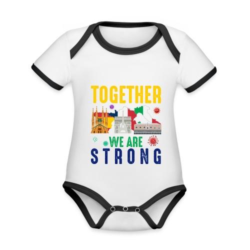 Together against Corona - Baby Bio-Kurzarm-Kontrastbody