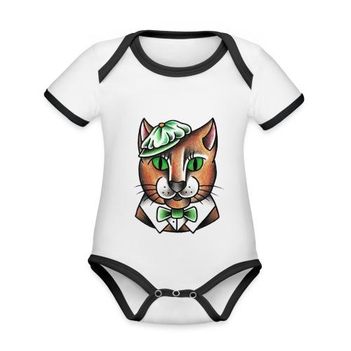 Swingcat - Body da neonato a manica corta, ecologico e in contrasto cromatico