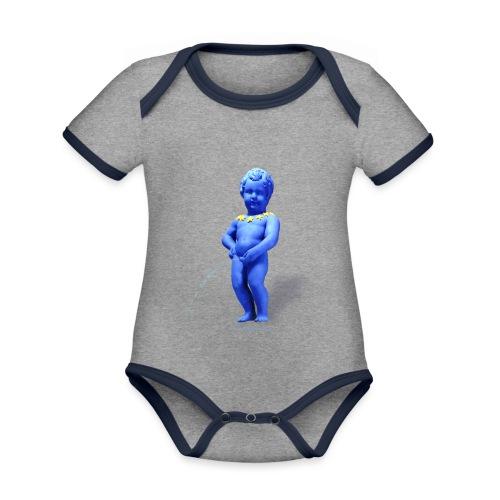 EUROPA mannekenpis ♀♂ | Enfant - Body Bébé bio contrasté manches courtes
