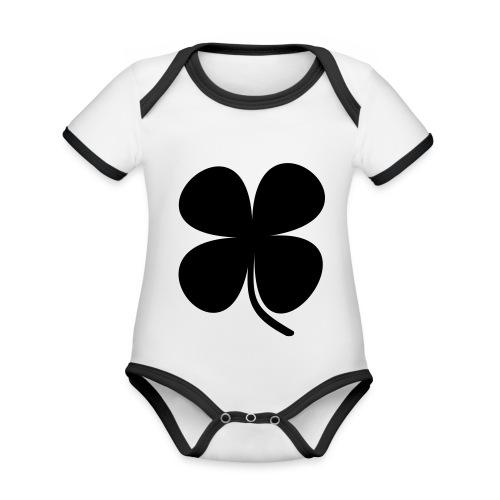 CLOVER - Body contraste para bebé de tejido orgánico