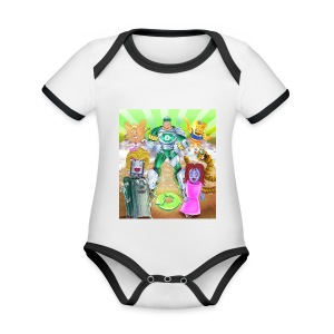 Captain Reece Icle - Organic Baby Contrasting Bodysuit