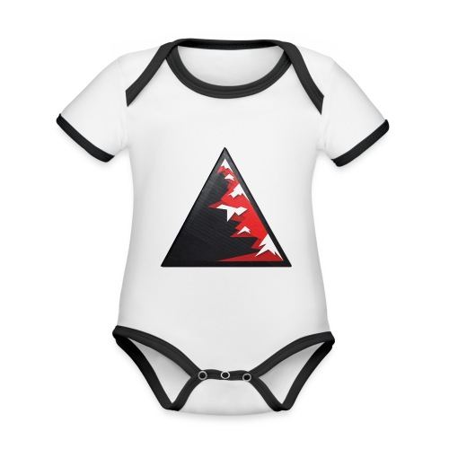 Climb high as a mountains to achieve high - Organic Baby Contrasting Bodysuit