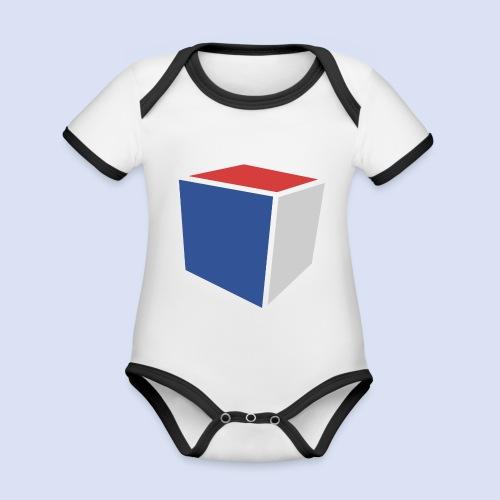 Cube Minimaliste - Body Bébé bio contrasté manches courtes