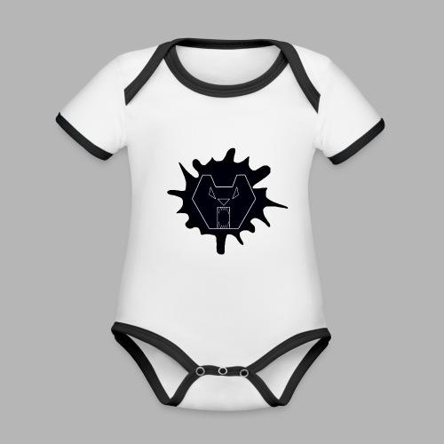 Bearr - Baby contrasterend bio-rompertje met korte mouwen
