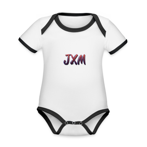 JXM Logo - Organic Baby Contrasting Bodysuit