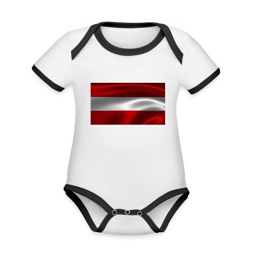 Austria I Love Austria - Baby Bio-Kurzarm-Kontrastbody
