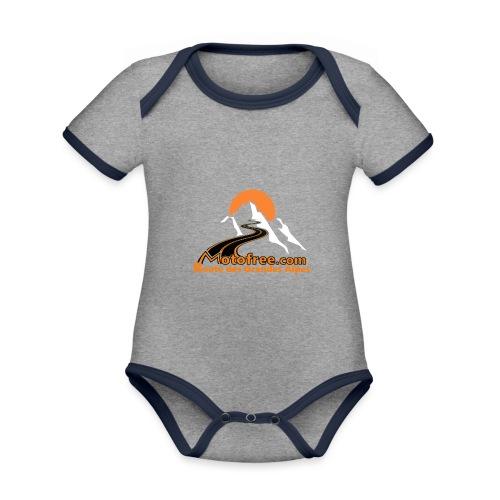 logo motofree orange - Body Bébé bio contrasté manches courtes