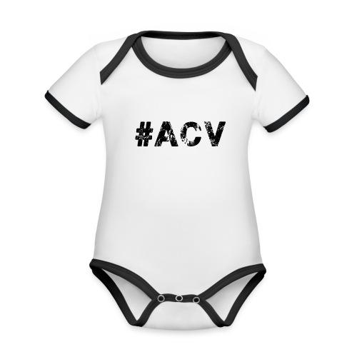 #ACV Logo - Baby Bio-Kurzarm-Kontrastbody
