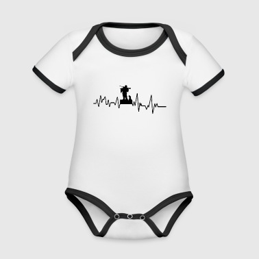 Heartbeat Hunt T-Shirt Gift Hobby Leisure - Organic Baby Contrasting Bodysuit