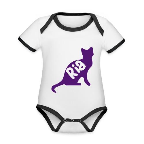 Team Ria Cat - Organic Baby Contrasting Bodysuit