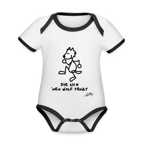 Die sich nen Wolf tanzt - Baby Bio-Kurzarm-Kontrastbody