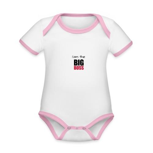 I am the big boss - Body Bébé bio contrasté manches courtes