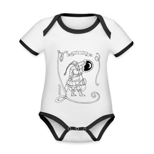 Heimdall, le Gardien - Body Bébé bio contrasté manches courtes