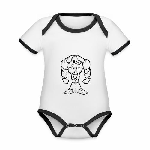 ROBOT Musculoso - Body contraste para bebé de tejido orgánico