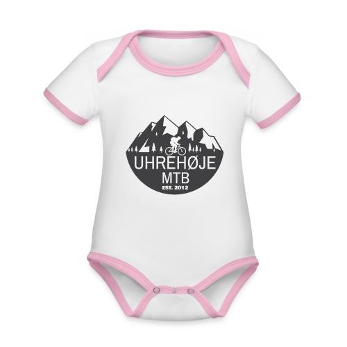 UhreHøje MTB - Kortærmet økologisk babybody i kontrastfarver
