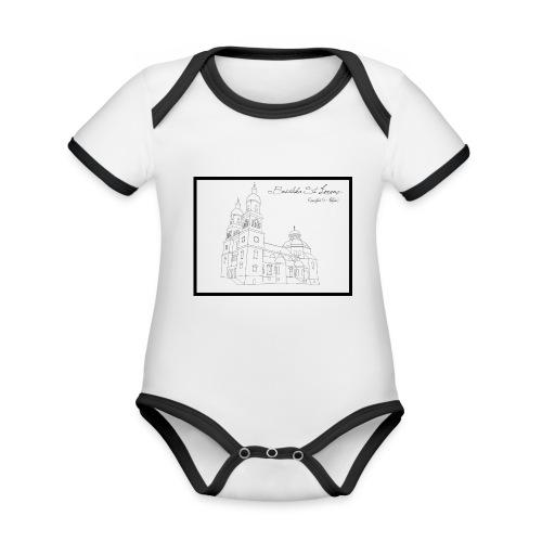 T Shirt Basilika St Lorenz Kempten Allgaeu - Baby Bio-Kurzarm-Kontrastbody