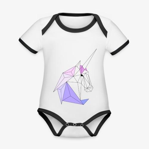 Einhorn geometrie unicorn - Baby Bio-Kurzarm-Kontrastbody