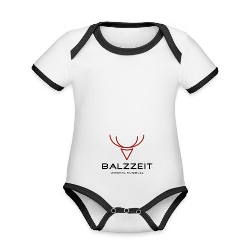 WUIDBUZZ | Balzzeit | Männersache - Baby Bio-Kurzarm-Kontrastbody
