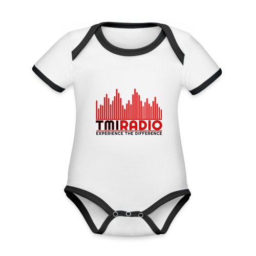 NEW TMI LOGO RED AND BLACK 2000 - Organic Baby Contrasting Bodysuit