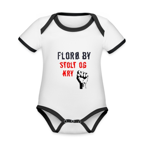 Florø by - Økologisk kortermet kontrast-babybody