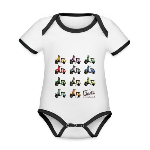 ♂ BIO-SHIRT: gusta la libertà - Baby Bio-Kurzarm-Kontrastbody
