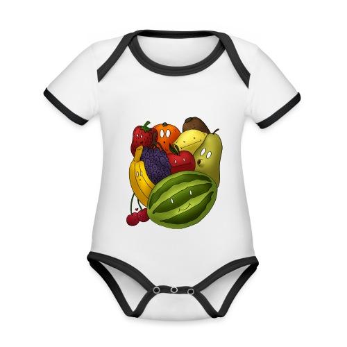 Happy Fruits - Baby Bio-Kurzarm-Kontrastbody