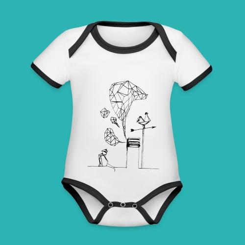 Carta_gatta-png - Body da neonato a manica corta, ecologico e in contrasto cromatico