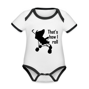 That's How I Roll - Organic Baby Contrasting Bodysuit