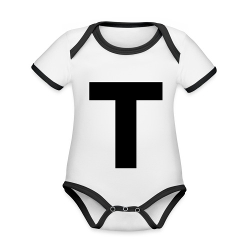 Tblack - Baby Bio-Kurzarm-Kontrastbody