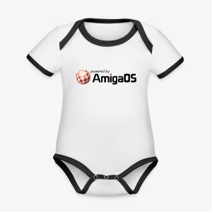 PoweredByAmigaOS Black - Organic Baby Contrasting Bodysuit