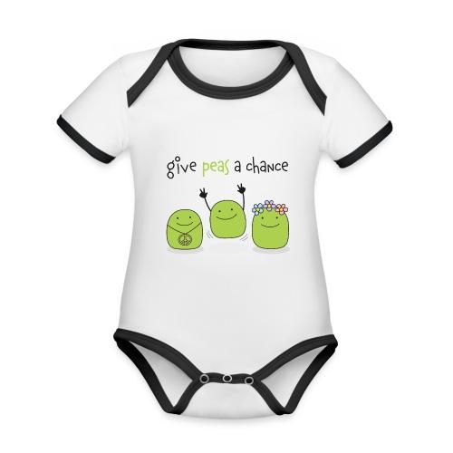 Give peas a chance! - Baby Bio-Kurzarm-Kontrastbody