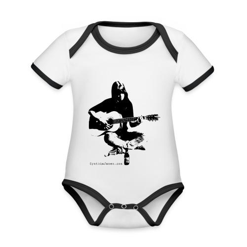 Cynthia Janes guitar BLACK - Organic Baby Contrasting Bodysuit