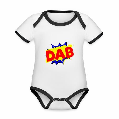 Dab fumetto logo - Body da neonato a manica corta, ecologico e in contrasto cromatico