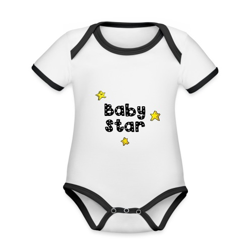 magicstars clip - Organic Baby Contrasting Bodysuit