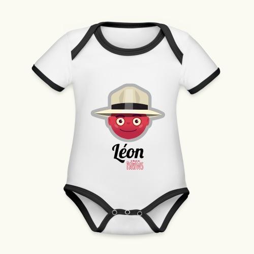 Leon (Le Monde des Pawns) - Body Bébé bio contrasté manches courtes