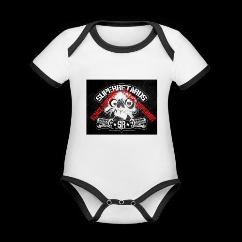 elsace-supermot - Body Bébé bio contrasté manches courtes