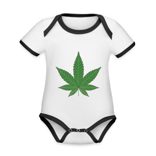 cannabisblatt - Baby Bio-Kurzarm-Kontrastbody