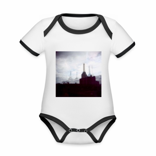Original Artist design * Battersea - Organic Baby Contrasting Bodysuit