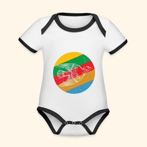 Grenadian Dove Retro - Organic Baby Contrasting Bodysuit