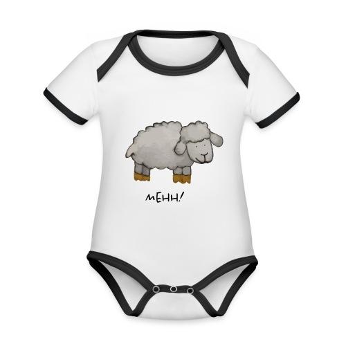 mehh! - Baby contrasterend bio-rompertje met korte mouwen